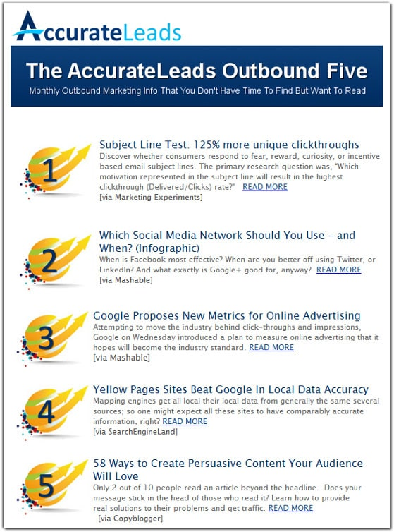 AccurateLeads Newsletter